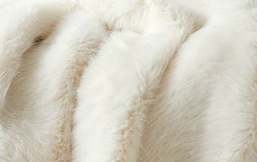 Synthetic fur artic fox Z330