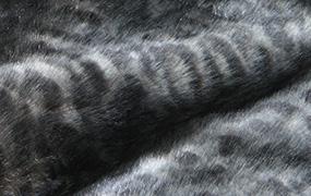 Synthetic fur night leopard Z511